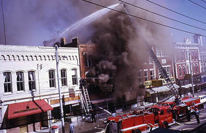 Fire in downtown Richmond,