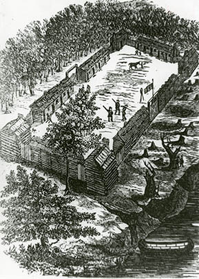 Sketch of Fort Boonesborough
